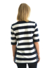 Picture of Thomas Cook Wmn Lace-on-stripe Top Navy/White