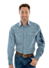 Picture of Wrangler Men's Eaton Print L/S Shirt