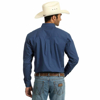 Picture of Wrangler Mens Western Classic Print Long Sleeve Navy