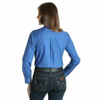 Picture of Wrangler Women George Strait For Her Blue Long Sleeve
