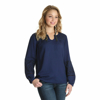 Picture of Wrangler Women's Embroidered Peasant Top Long Sleeve