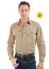 Picture of Hard Slog Men's Heavy Cotton 1/2 button, L/S Shirt