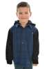 Picture of Pure Western Boys Barnett Long Sleeve Hoodie Shirt Navy