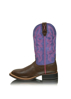 Picture of Twisted X Women's Ruff Stock Brown Purple