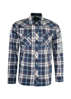 Picture of Wrangler Men Powell Check Long Sleeve