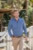 Picture of Thomas Cook Men's Bowen Print Tailored L/S Shirt Royal Blue