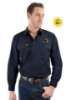 Picture of Hard Slog Mens Half Placket Light Cotton Shirt - Coolgardie Muster