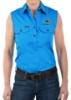 Picture of Hard Slog Women's Half Placket Light Cotton Sleeveless Shirt - Coolgardie Muster