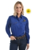 Picture of Hard Slog Women's Half Placket Light Cotton Shirt - Coolgardie Muster